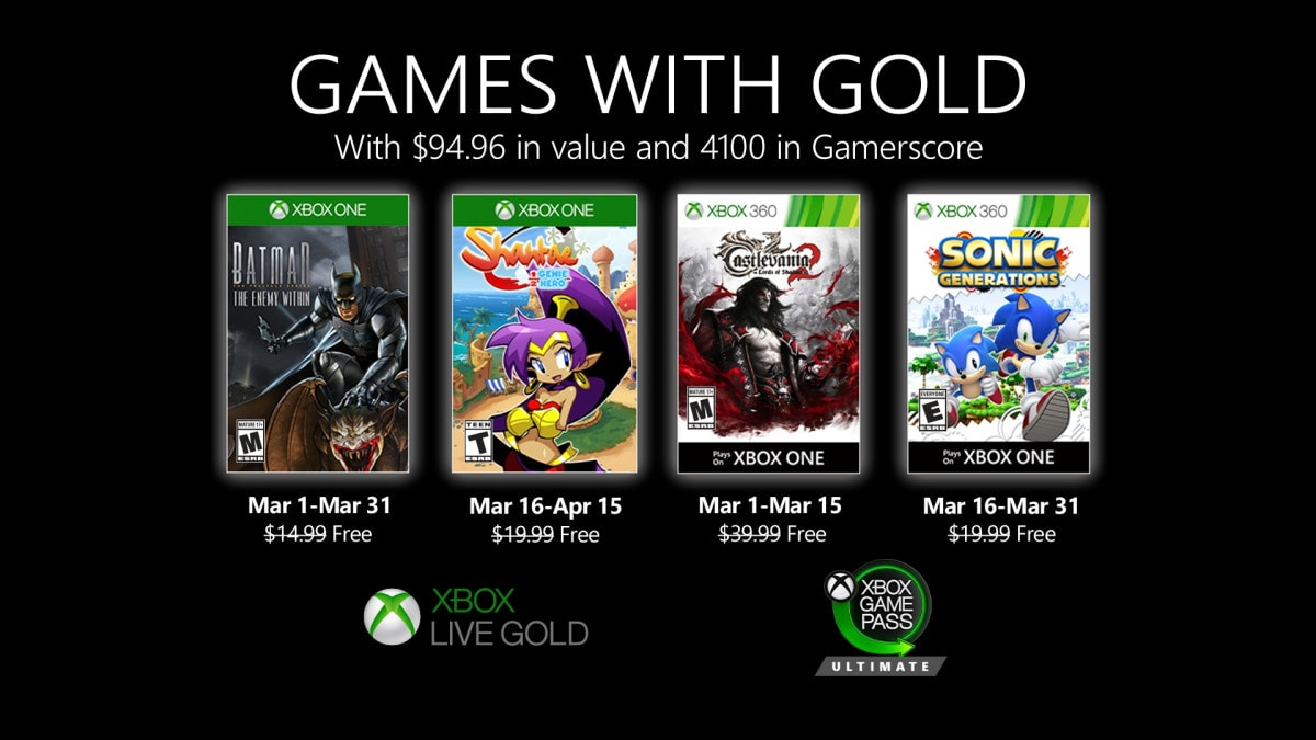 Xbox-Live-Games-with-Gold-Gaming-Batman-Sonic-Castlevania-Juegos-Gratis-Para